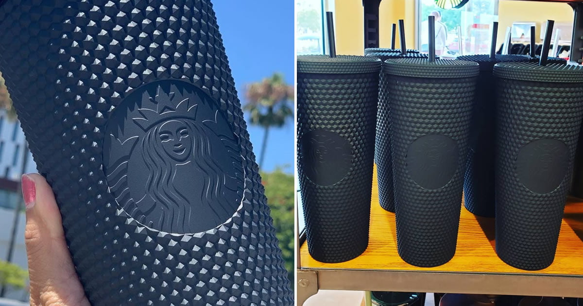 Starbucks Is Selling A Spiked Matte Black Cup Just In Time