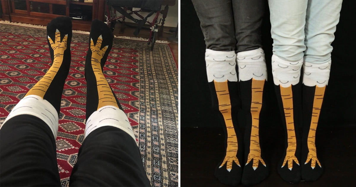 Chicken Leg Socks Make It Look Like You Have Actual Chicken Legs
