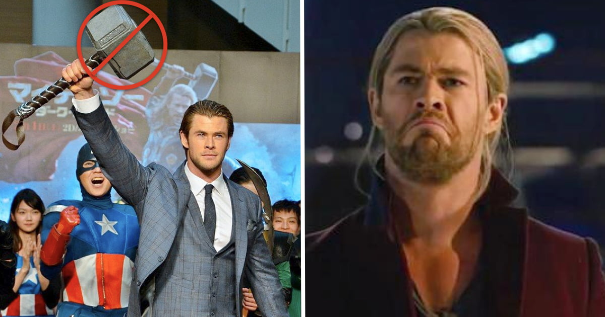 Chris Hemsworth's Wife Says He Stole 5 Hammers From Set