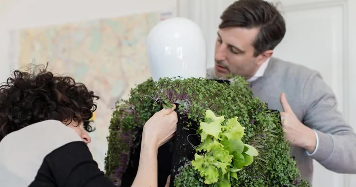 This Wearable Vest Grows A Self-sustaining Garden Watered By Your Own Urine