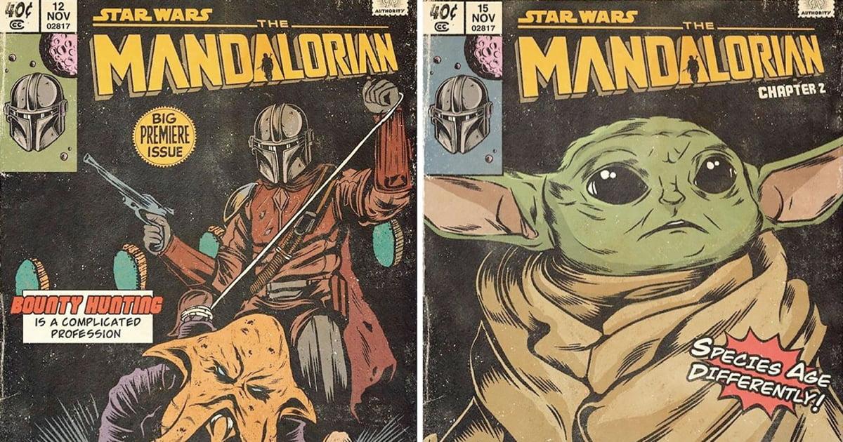 Russian Illustrator Recreates 'The Mandalorian' As Vintage Comic Book Covers
