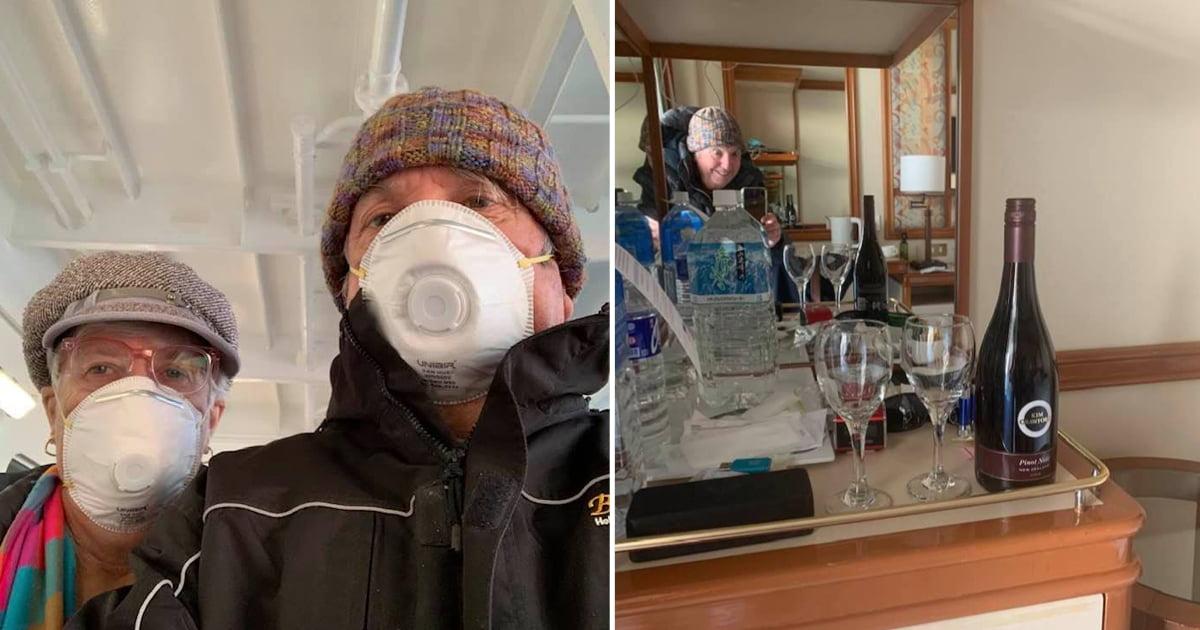 Aussie Couple Ordered Wine Via Drone On Quarantined Coronavirus Cruise Ship