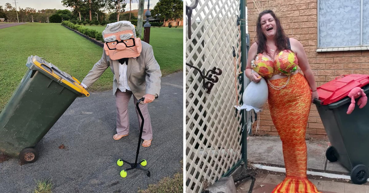 Australians Are Dressing Up To Take Out Their Trash