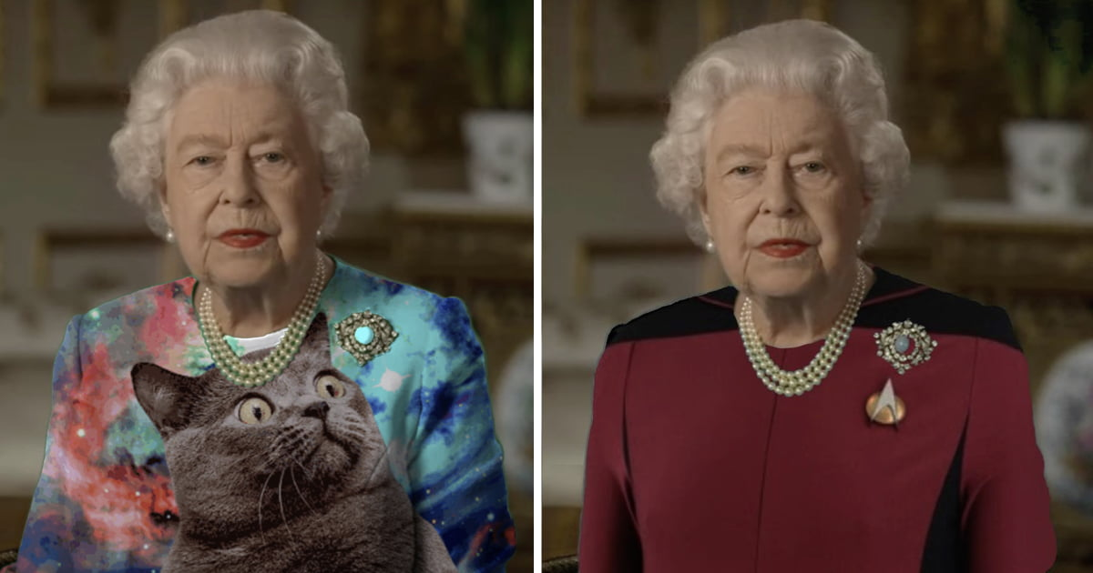 The Queen's Green Screen Outfit Sparks Glorious Photoshop Battle Again
