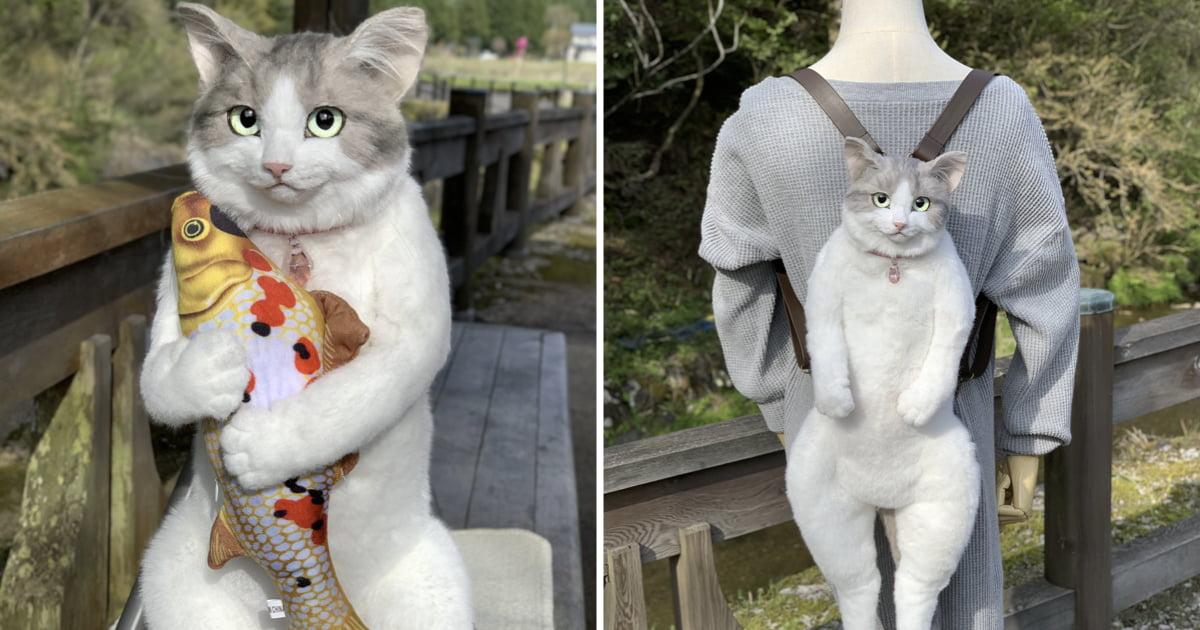 Cộng đồng mạng cười thích thú với chiếc túi với ngoại hình giống y như mèo thật