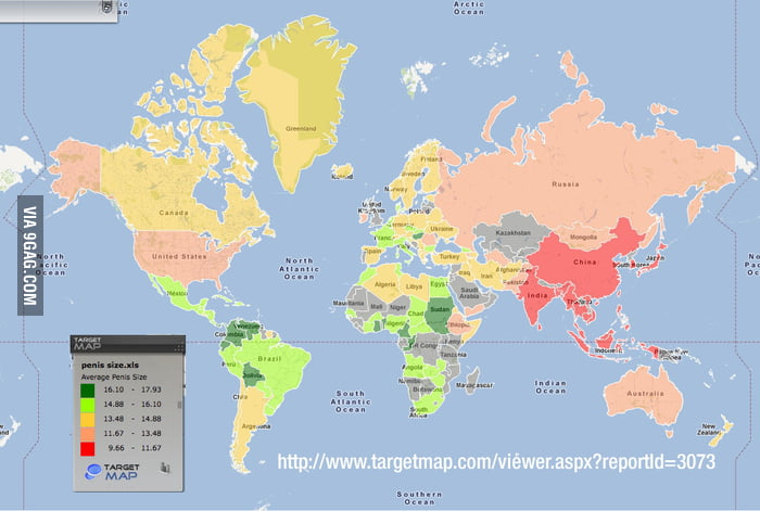 Average penis size world map 9gag gumiabroncs Choice Image