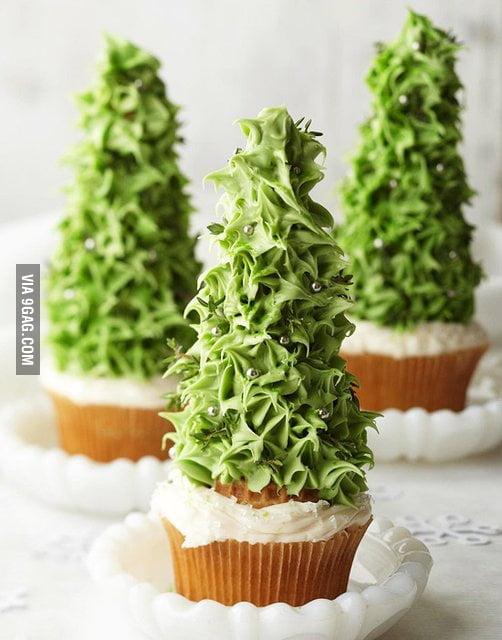 Awesome Christmas cupcake is awesome