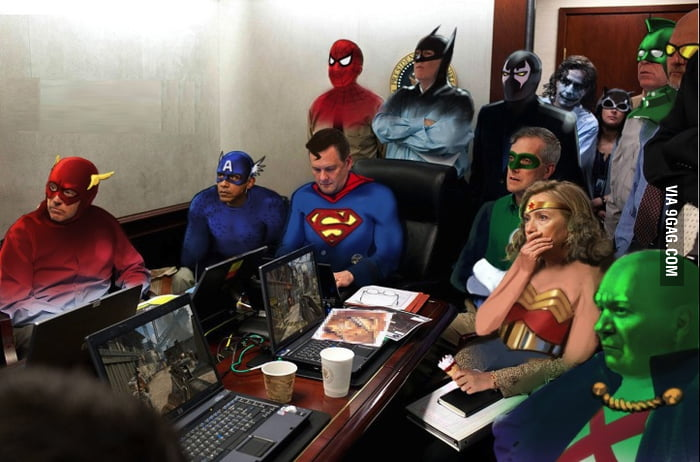 Justice League + The Avengers = Bin Laden is screwed