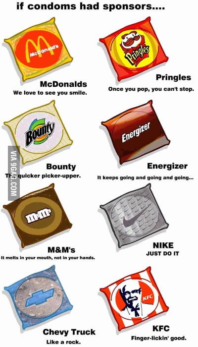If condoms had sponsors...