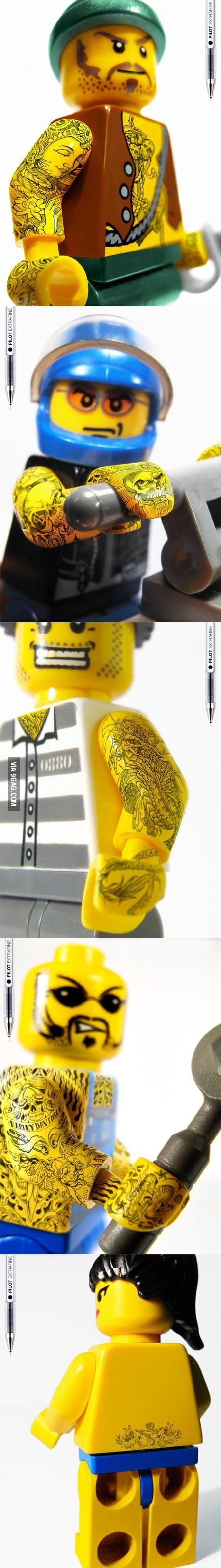Awesome Tattoed LEGOS