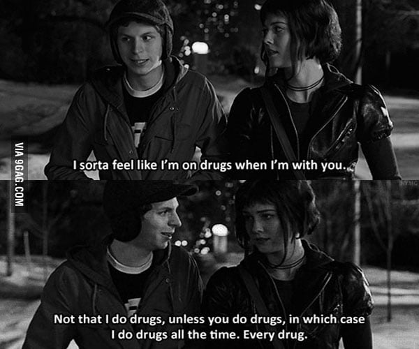 Scott pilgrim vs the world quote - 9GAG
