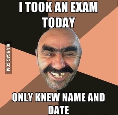I took an exam