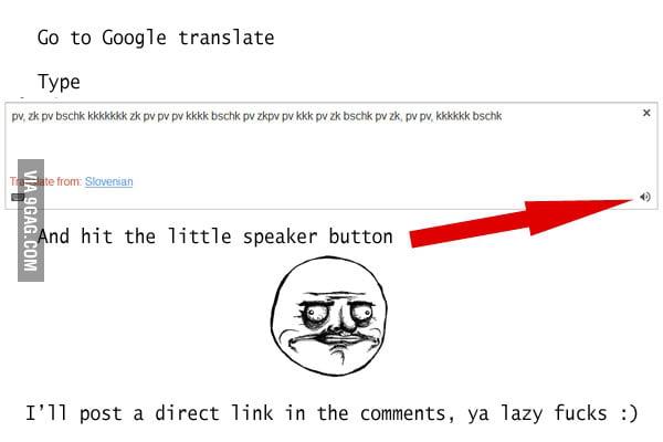 Google Translate Dubstep