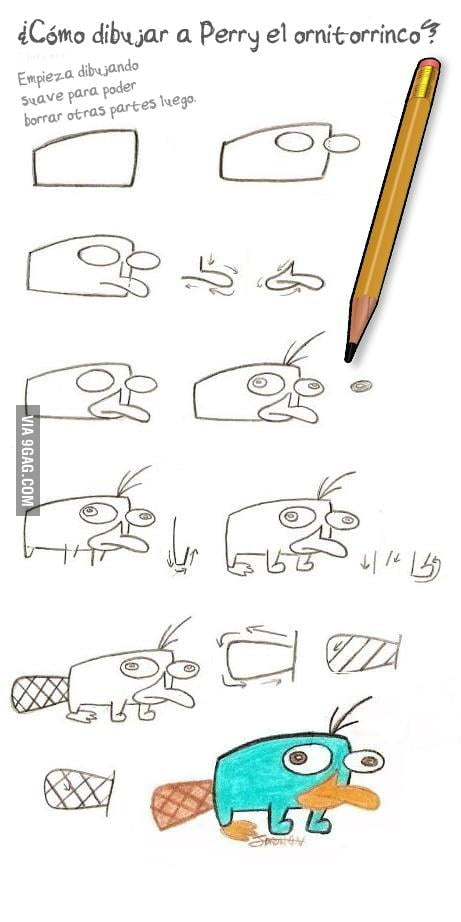 how to draw perry the platypus 9gag