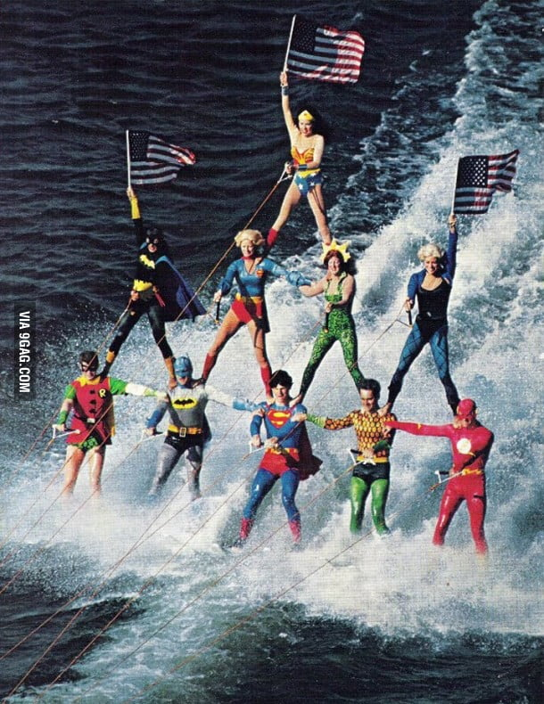 Super Heroes Take A Holiday