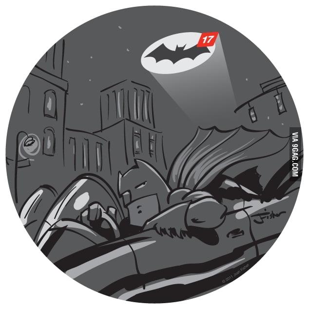 Batman hasn't been online for a week.