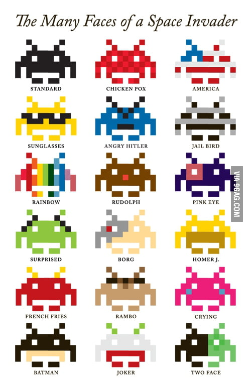 The Many Faces of Space Invader
