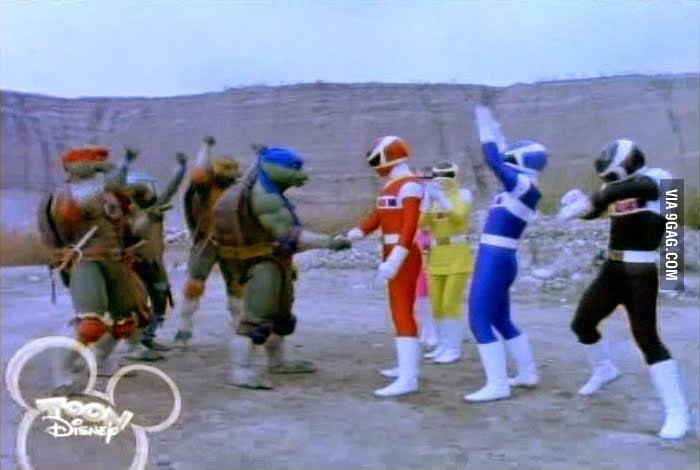 When Power Rangers meet Ninja Turtles