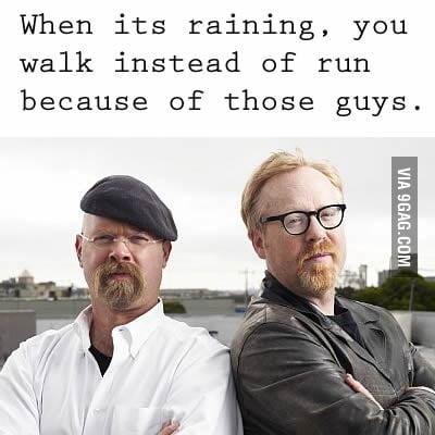 When it's raining...
