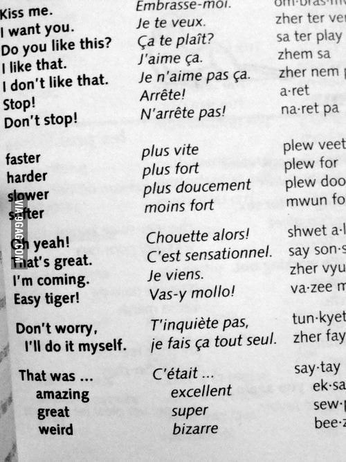 Sex in french language