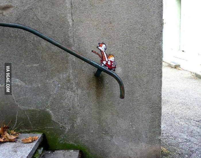 Calvin & Hobbes street art