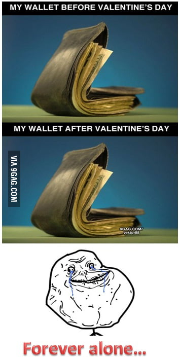 My wallet before/after Valentine's Day [Fixed]
