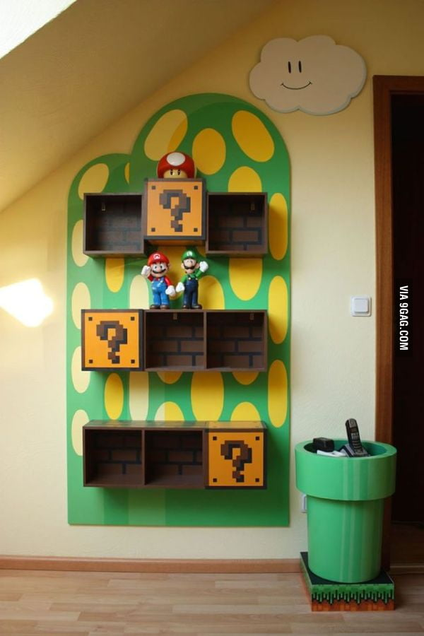 Mario Bros Shelf
