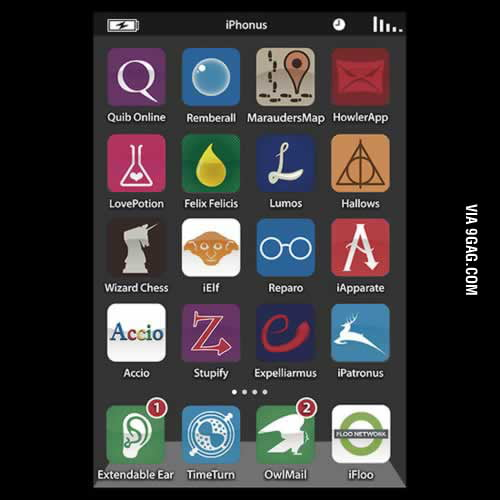 Harry Potter's iPhone