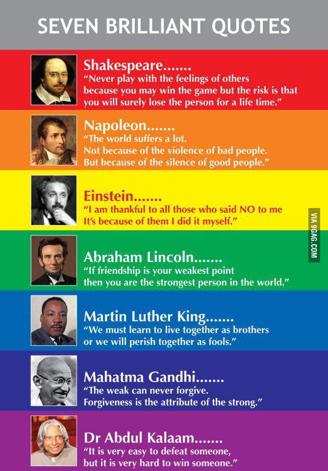 Seven brilliant quotes