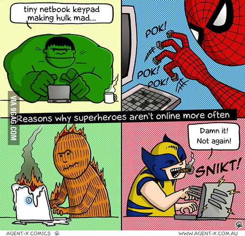 Reasons why superheroes aren't online more often