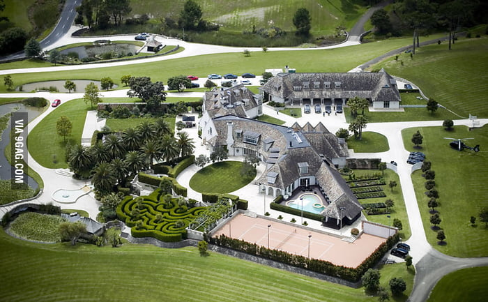 This is the house of Kim Schmitz (owner of Megaupload)