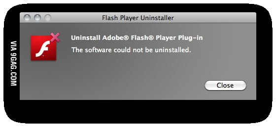 Flash Player Uninstaller Fail
