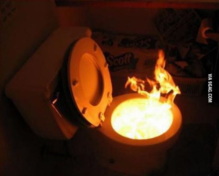 Toilet on Fire