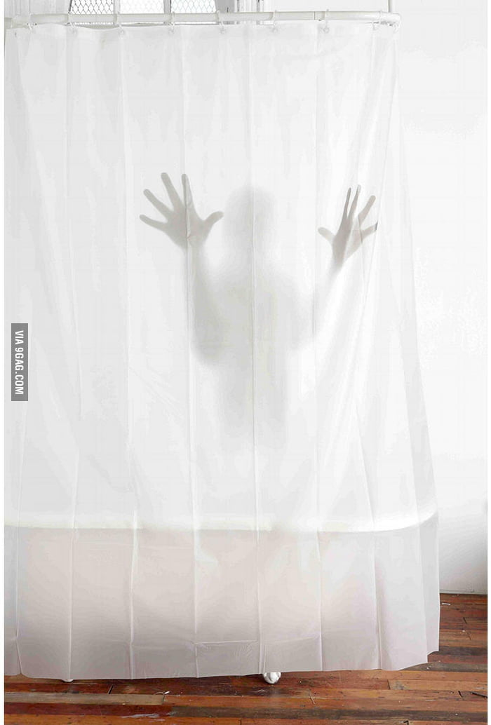 Scary Shower Curtain