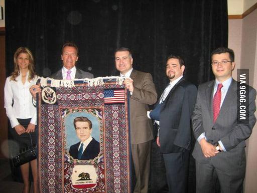 Will Arnold Schwarzenegger use that carpet?