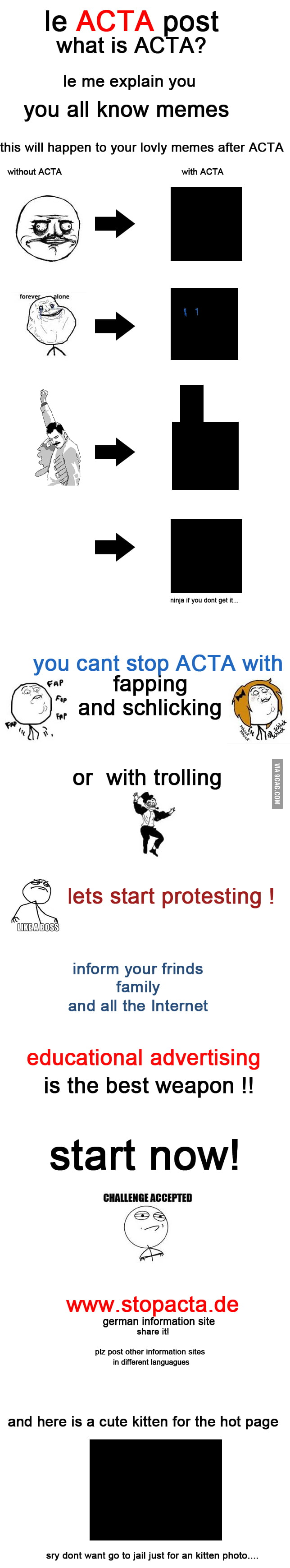 ACTA - dont take us our kittens