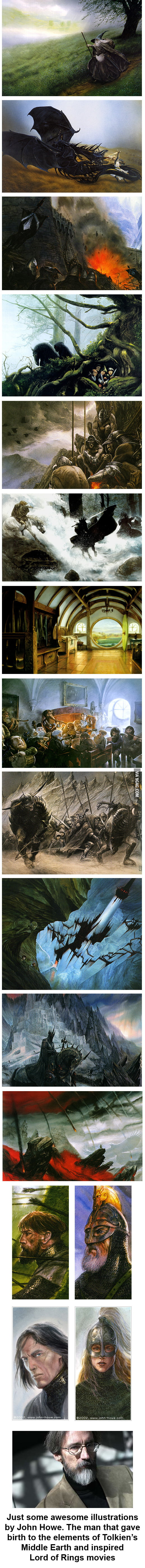 Illustrations which inspired The Lord of the Rings