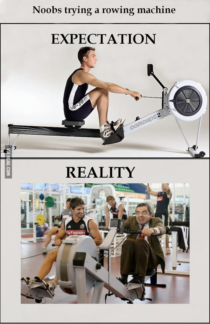 One does not simply try a rowing machine - 9GAG