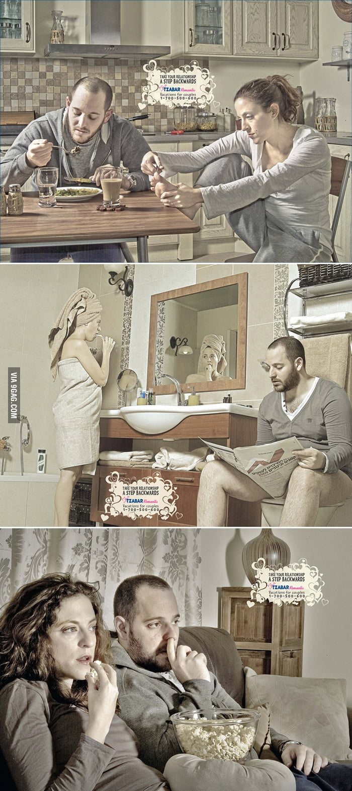 Creative ad: Take your relationship a step backwards