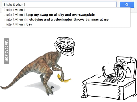 i hate it when im studying and a velociraptor