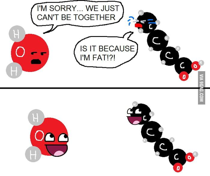 Molecules breaking bonds