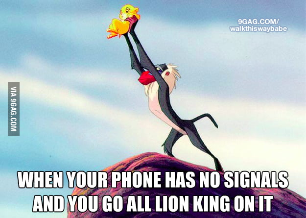 When you don't have a signal on your phone