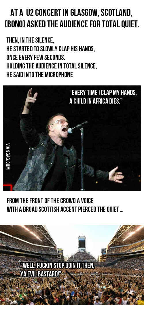 Just Bono, being trolled by his fans