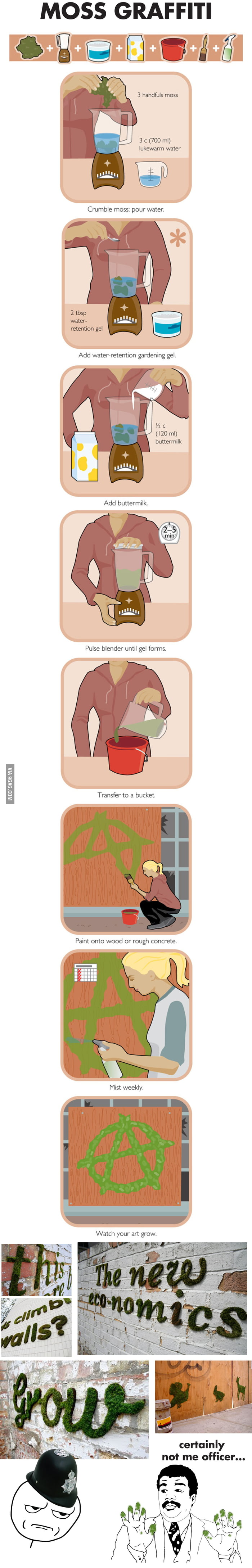 Moss graffiti HOW TO