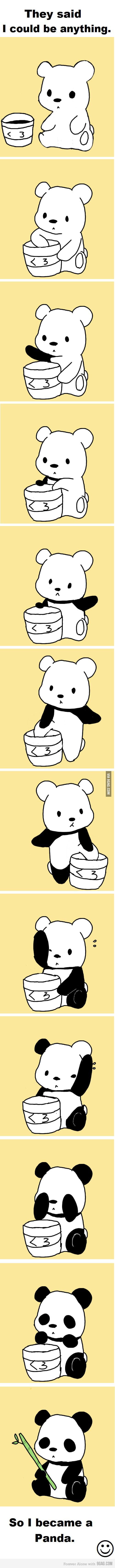 I'm a panda now