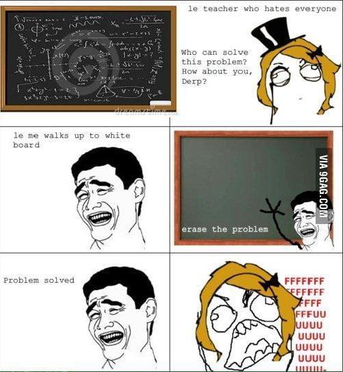 Teacher, problem solved!