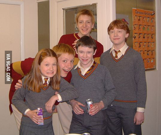 Just a rare photo of Ginny, Ron and others...