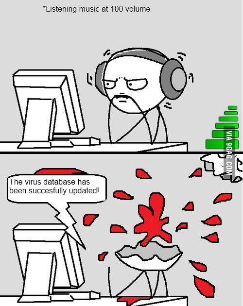 The virus database has been...
