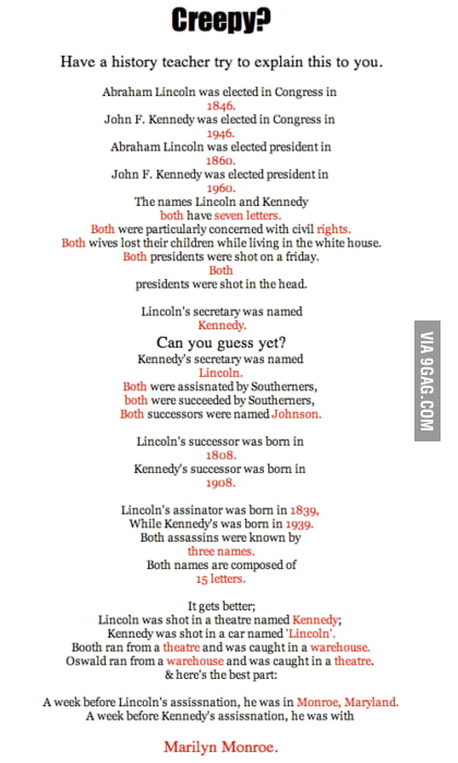 Kennedy vs Lincoln