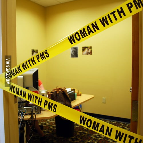 Woman with PMS